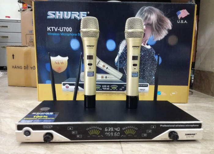 MIC KHONG DAY SHURE KTV U700