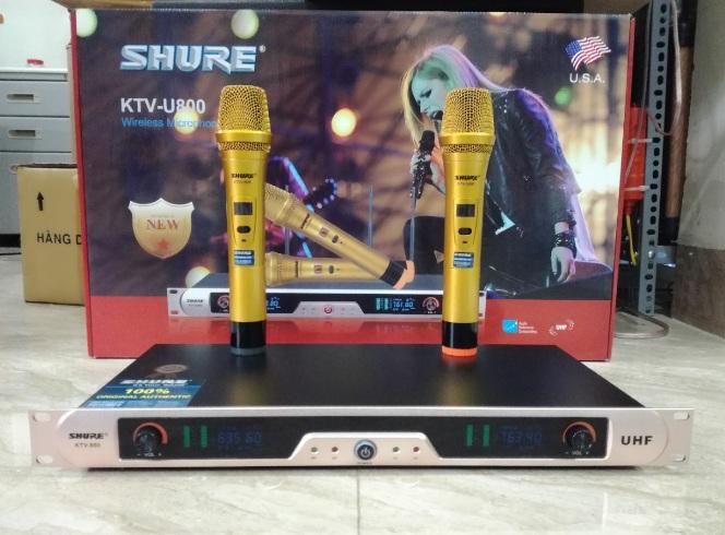 mic khong day shure KTV U800