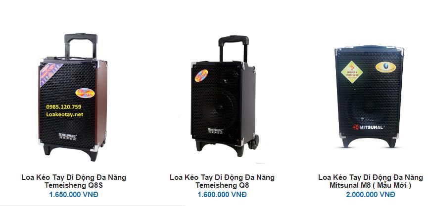 Loa vali kéo giá bao nhiêu? Cập nhật bảng giá mới nhất hiện nay