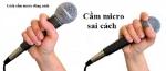 Cách cầm mic hát karaoke không phải ai cũng biết