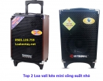 Top 2 Loa vali kéo mini công suất nhỏ ưa chuộng hiện nay